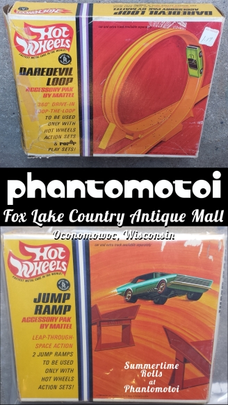 Find SUPER-RARE, all original Hot Wheels cars and kits at the Phantomotoi Booth inside Fox Lake Country Antique Mall in Oconomowoc, Wisconsin!