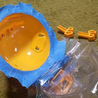 This Imaginext-Fisher Price Bathysphere needs some sprucing' up so let the masking begin! #phantomoshop #phantomoshopblog #phantomophigures