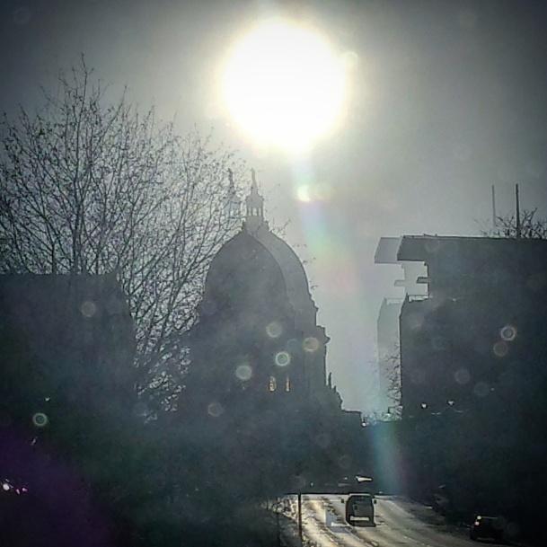 Wisconsin State Capitol in Madison is double-exposed here ... #phantomoshopblog #phantomoshop #phantomotoi #phanomophigures