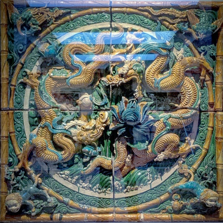 Twenty apprentice clay-workers produced this glazed earthenware 'Dragon' for the Ming Dynasty in 1567 to repel evil! Visit this masterpiece in Madison, Wisconsin at the Chazen Museum. #phantomoshopblog #phantomoshop #phantomotoi #phanomophigures