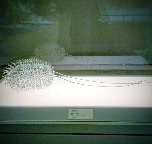 Luke Jerram's meticulous H2O contamination in glass sculpture at Chazen Museum, Madison Wisconsin entitled 'Large E. Coli' - 2010 #phantomoshopblog #phantomoshop #phantomotoi #phanomophigures
