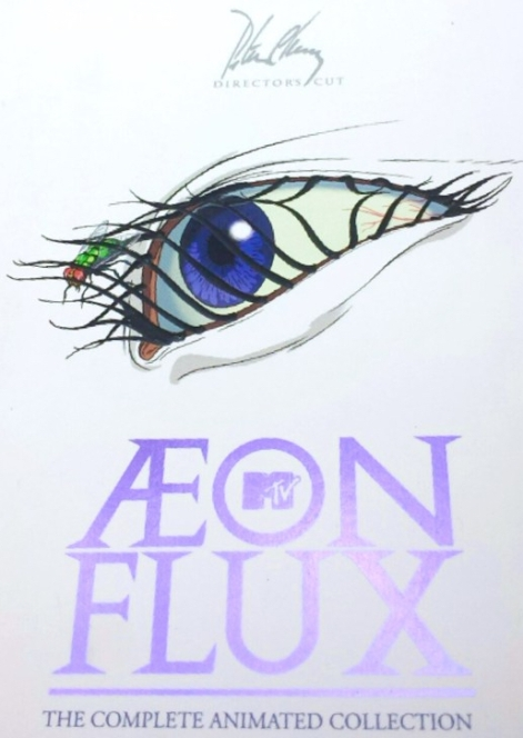 Peter Chung's 'Aeon Flux - The Complete Animated Collection - Director's Cut' 3-disc DVD set slipcase cover art.