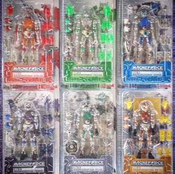 Microman went MAG in 2005 with Takara's 'Magneforce' figures.